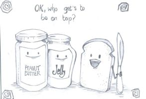 Peanut or jelly? by 99scribbles