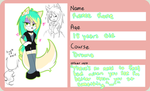 NorthFransCollege Thingy Form: Renee The Wolf by FarFromSerious