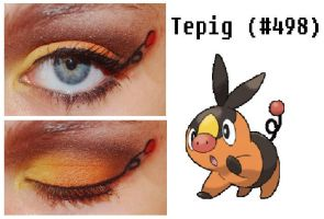 Pokemakeup 498 Tepig by nazzara
