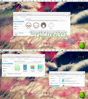 Theme For IconPackager GreenWhite Cute by PiitufiitoGrr
