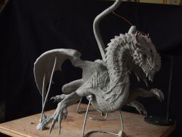 Dragon sculpt in sculpey firm by revenant-99