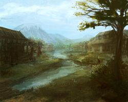 Marsh Town by toba122