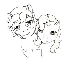 Blueberry Kick and Mystery Writer by child-of-aros