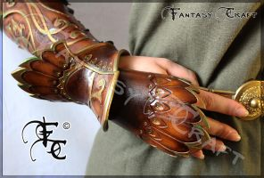 Leather bracer by Fantasy-Craft