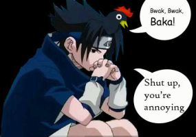 joke on Sasuke by ferroxcat