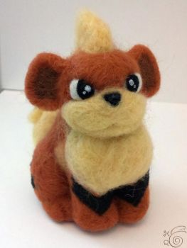 Growlithe Needle Felted by TheHarley