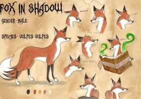 FoxInShadow reference sheet by FoxInShadow