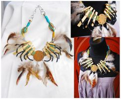 dramatis ethnic necklace by aurilianalence