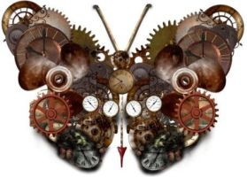 Steampunk Butterfly by Ally-bally-bumblebee