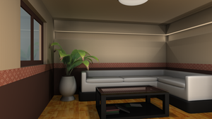 3D Room Exercises: Living Room by EaL-Lawliet