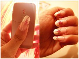 Fleur roses nails by Lalla-Mira
