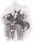 Goat and Wolves by fainting-goat
