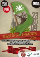 Million Marihuana March Poster by rebeliant