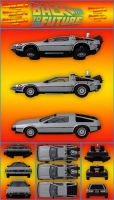 DeLorean DMC-12 Package by DecanAndersen