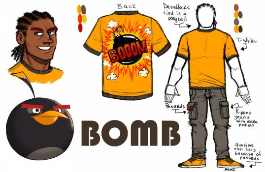 Angry Birds (Toons) : Bomb Humanization by MemQ4