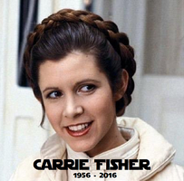 R.I.P. Carrie Fisher by TheRockinStallion