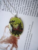 Forest Owl Pendant by cellsdividing