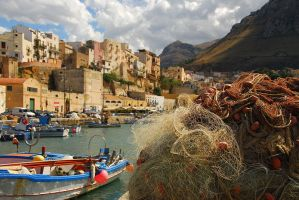 Sicilian harbour by opcd