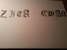 My nickname in deathnote letters by zita952