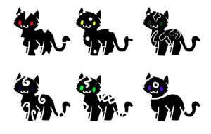 Odd Kitti Adoptables by shewolf321