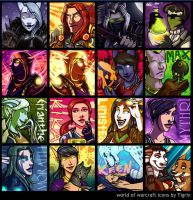 commission - Oct WoW icons by tigrin