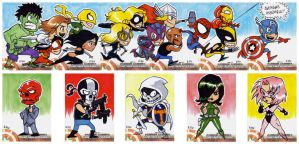 Captain America Sketch Cards 6 by eisu