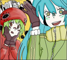 Matryoshka - Hatsune and Gumi by superpivot1231