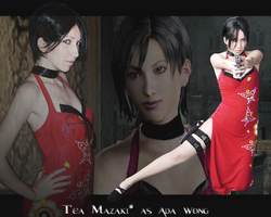 Ada Wong- a lady in red dress by TeaMazaki