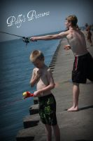 Brothers Fishing by Amb08