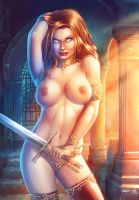 Warrior Girl color by HedwinZ89