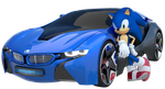 Sonic The Hedgehog with Car 3D by Fentonxd