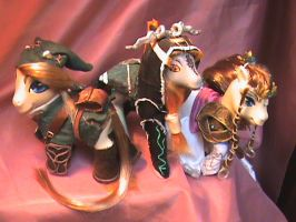 TP Link, Midna, and Zelda by customlpvalley