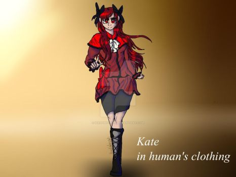 Kate as human by IcessWolves