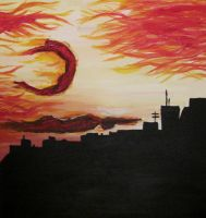 Flames on the City Sky by silence2