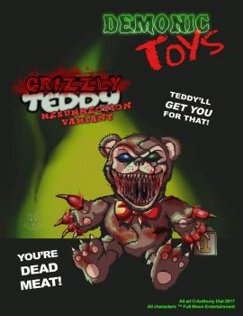 Demonic Toys: Grizzly Teddy Variant by Gummibearboy