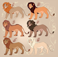 Mystery Adoptables 2 - Lions REVEALED by ShimiArt