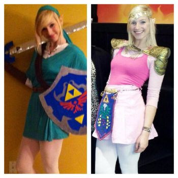 Link and Zelda Cosplay by EmilyMidWest