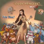 The Ewok Princess by ninjaink