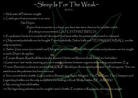 Sleep Is For The Weak - Emerald Nuzlocke Rules by Miscomunication
