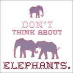 Don't think about elephants by Paperflower86