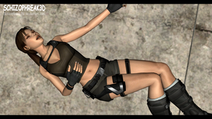 Lara Croft - Unconscious 3 by Schizophreak3D