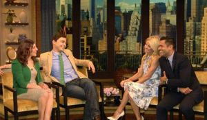 Jim and Mayim at Live! With Kelly by rubyanjel