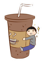 Iced Americano by squeeglylines
