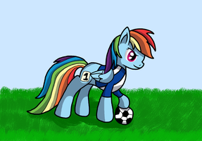 30 min challenge: Pony doing sports by WolfyOmega