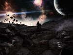 Planets Colide by Unbot
