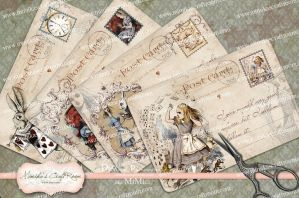 Bacground-Vintage-Card-Alice-in-Wonderland 1 by mimikascraftroom