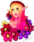 Elf with flowers by ValeriaDiStefano