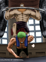 Zoro and Chopper by Infernoll