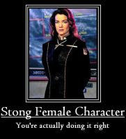 Right Female Character by HeroThief