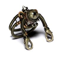 Steampunk robot Ring by CatherinetteRings